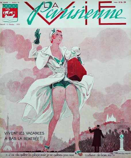 La Vie Parisienne 1931 Vivent Les Vacances Sex Appeal | Sex Appeal Vintage Ads and Covers 1891-1970