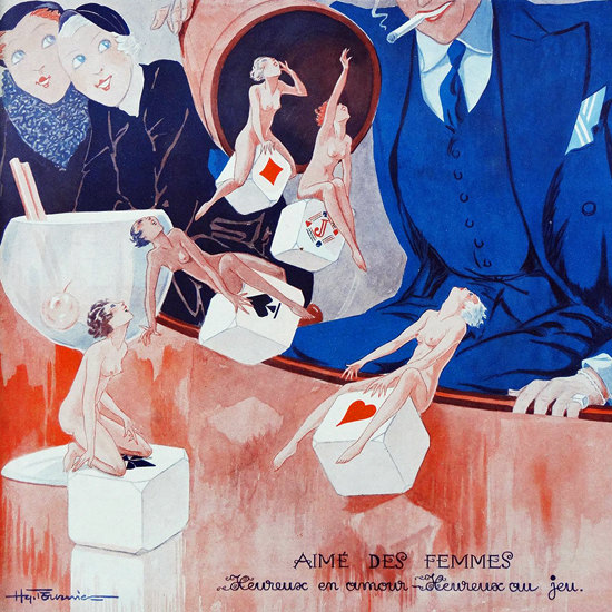 La Vie Parisienne 1932 Aime Des Femmes Henry Fournier crop | Best of 1930s Ad and Cover Art