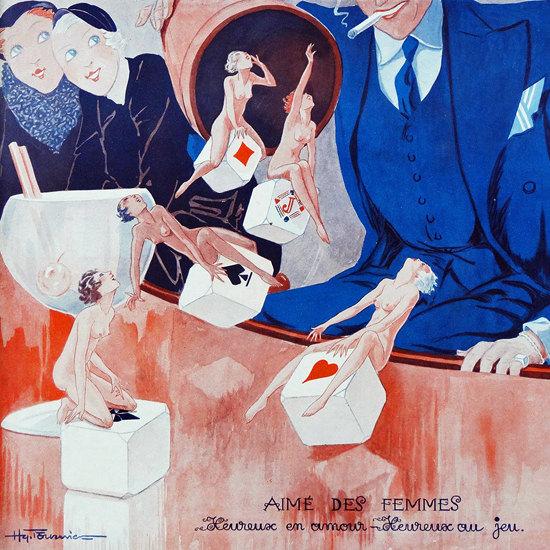 La Vie Parisienne 1932 Aime Des Femmes Henry Fournier crop | Best of Vintage Cover Art 1900-1970