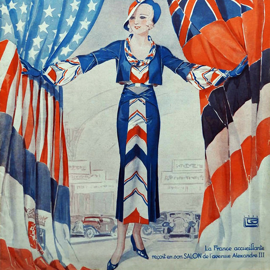 La Vie Parisienne 1932 Alexandre III Georges Leonnec crop | Best of 1930s Ad and Cover Art