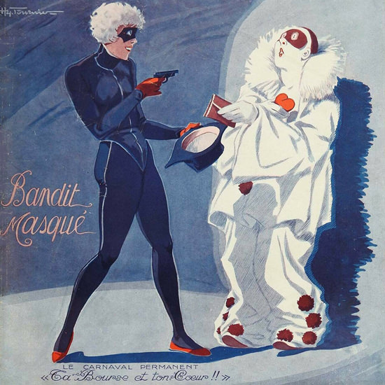 La Vie Parisienne 1932 Bandit Masque Henry Fournier crop | Best of 1930s Ad and Cover Art