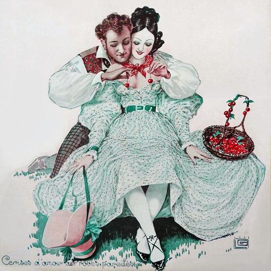 La Vie Parisienne 1932 Cerises D Amour Georges Leonnec crop | Best of Vintage Cover Art 1900-1970