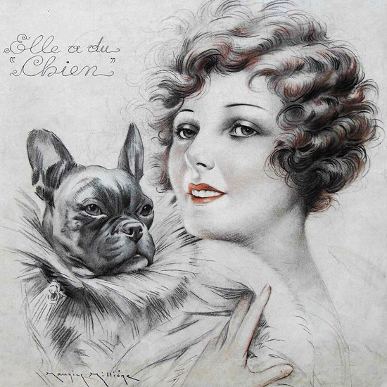 La Vie Parisienne 1932 Elle A Du Chien Maurice Milliere crop | Best of 1930s Ad and Cover Art