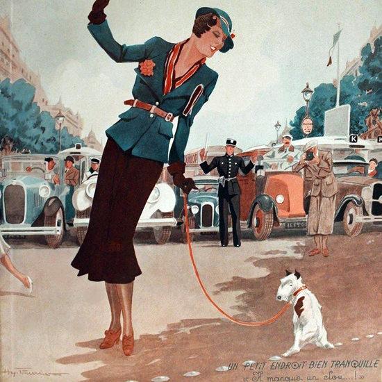 La Vie Parisienne 1932 Endroit Bien Tranquille Henry Fournier crop | Best of Vintage Cover Art 1900-1970