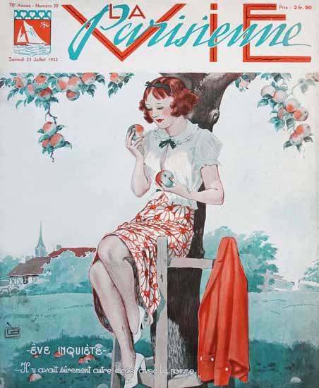 La Vie Parisienne 1932 Eve Inquiete Sex Appeal | Sex Appeal Vintage Ads and Covers 1891-1970