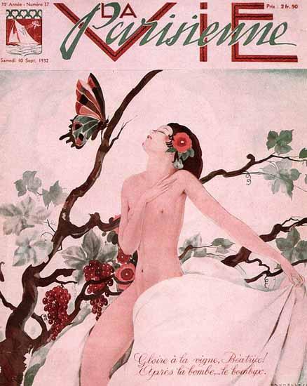 La Vie Parisienne 1932 Gloire A La Vigne Beatrice Sex Appeal | Sex Appeal Vintage Ads and Covers 1891-1970