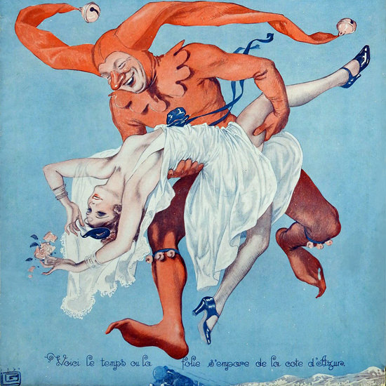 La Vie Parisienne 1932 La Folie Georges Leonnec crop | Best of 1930s Ad and Cover Art
