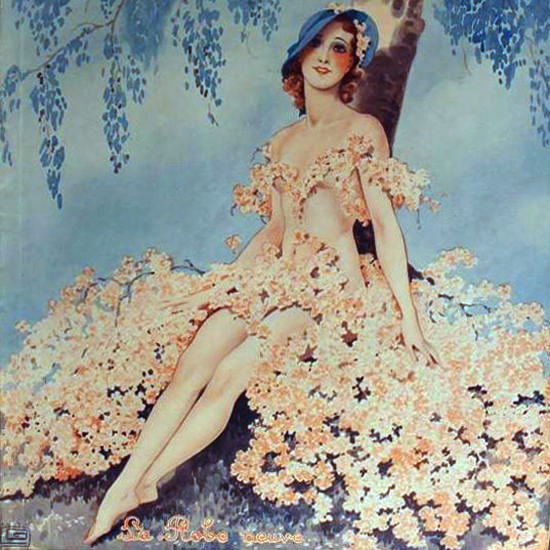 La Vie Parisienne 1932 La Robe Neuve Georges Leonnec crop | Best of Vintage Cover Art 1900-1970