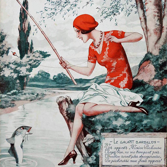 La Vie Parisienne 1932 Le Galant Barbillon Cheri Herouard crop | Best of Vintage Cover Art 1900-1970