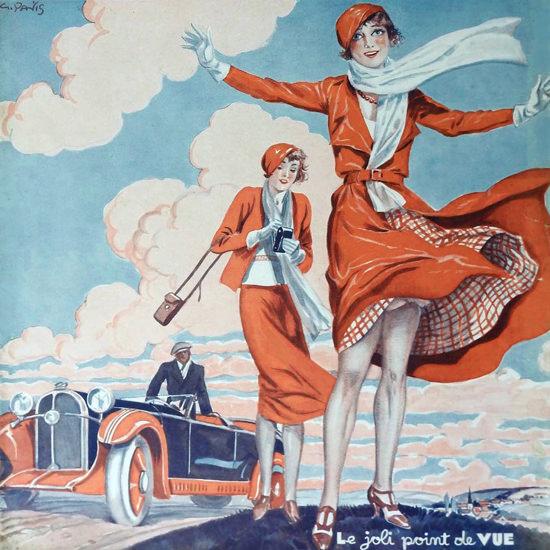 La Vie Parisienne 1932 Le Joli Point De Vue Georges Pavis crop | Best of 1930s Ad and Cover Art