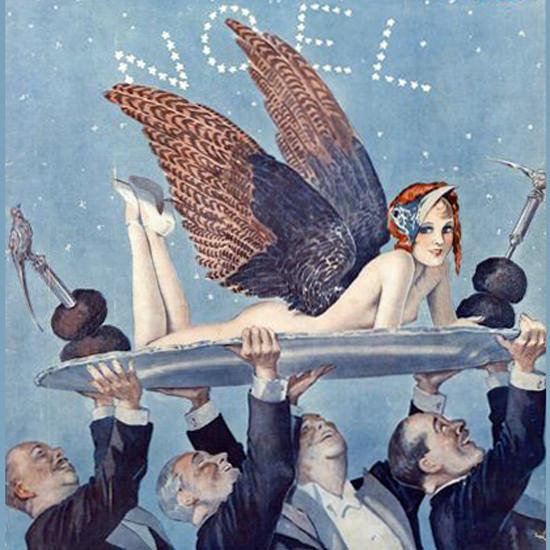 La Vie Parisienne 1932 Le Plat De Resistance Georges Leonnec crop   Best of Vintage Cover Art 1900-1970