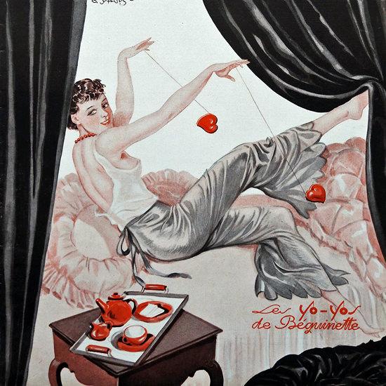 La Vie Parisienne 1932 Les Yo-Yos Georges Pavis crop | Best of Vintage Cover Art 1900-1970