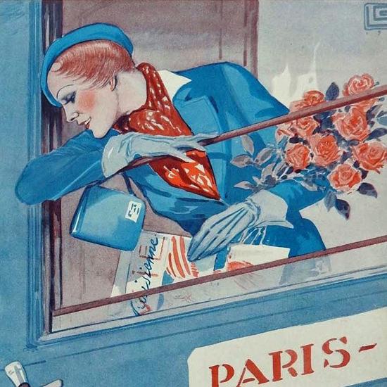 La Vie Parisienne 1932 Meme Sous Les Tunnels Georges Leonnec crop B | Best of Vintage Cover Art 1900-1970