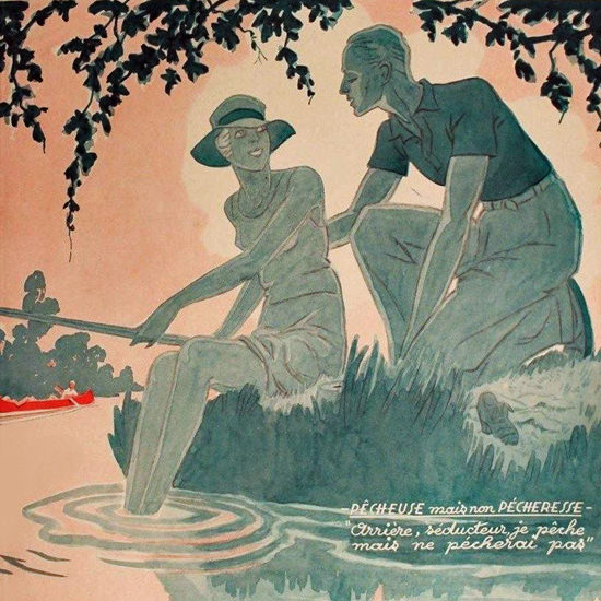 La Vie Parisienne 1932 Non Pecheresse Henry Fournier crop | Best of 1930s Ad and Cover Art