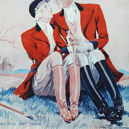 La Vie Parisienne 1932 Rendez-Vous De Chasse Henry Fournier crop | Best of Vintage Cover Art 1900-1970