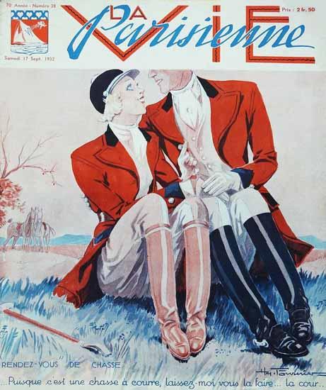 La Vie Parisienne 1932 Rendez-Vous De Chasse Sex Appeal | Sex Appeal Vintage Ads and Covers 1891-1970