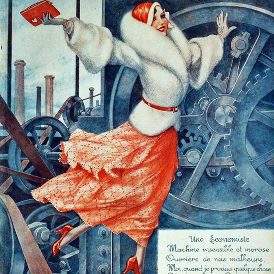 La Vie Parisienne 1932 Une Economiste Cheri Herouard crop | Best of 1930s Ad and Cover Art