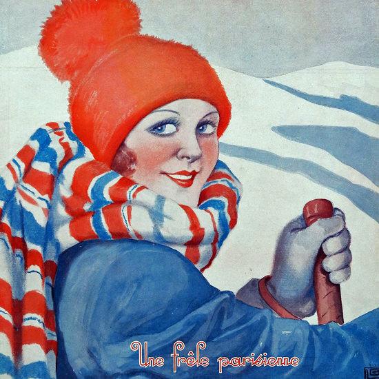 La Vie Parisienne 1932 Une Frele Parisienne Georges Leonnec crop | Best of Vintage Cover Art 1900-1970