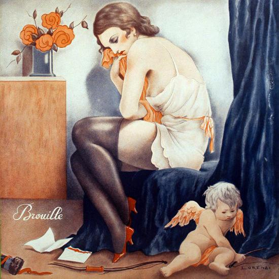 La Vie Parisienne 1933 Brouille Fabius Lorenzi crop | Best of 1930s Ad and Cover Art
