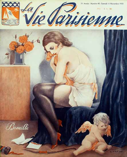 La Vie Parisienne 1933 Brouille Sex Appeal | Sex Appeal Vintage Ads and Covers 1891-1970