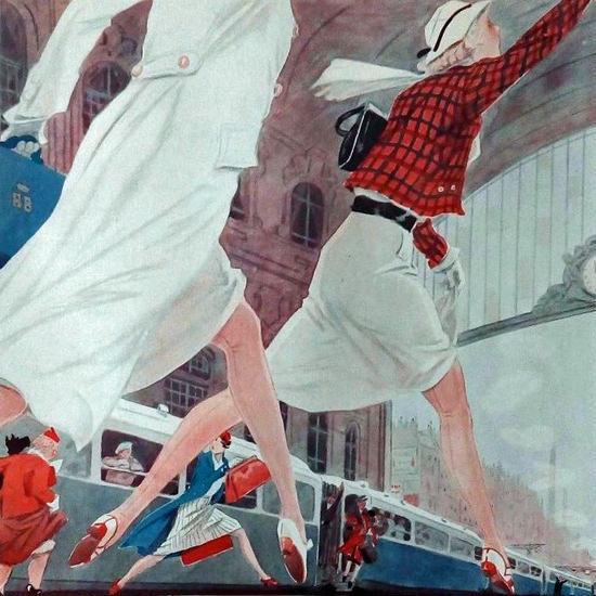 La Vie Parisienne 1933 Gare De Lestes Henry Fournier crop | Best of 1930s Ad and Cover Art