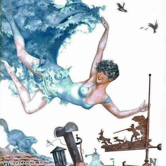 La Vie Parisienne 1933 Giboulette Cheri Herouard crop | Best of Vintage Cover Art 1900-1970