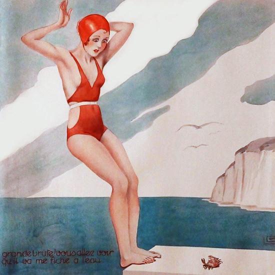 La Vie Parisienne 1933 Grande Brute Georges Leonnec crop | Best of 1930s Ad and Cover Art