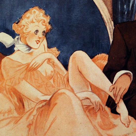 La Vie Parisienne 1933 Le Docteur Distrait Henry Fournier crop B | Best of 1930s Ad and Cover Art