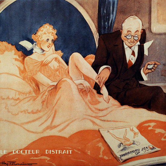 La Vie Parisienne 1933 Le Docteur Distrait Henry Fournier crop | Best of Vintage Cover Art 1900-1970