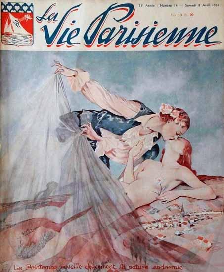 La Vie Parisienne 1933 Le Printems Reveille Sex Appeal   Sex Appeal Vintage Ads and Covers 1891-1970