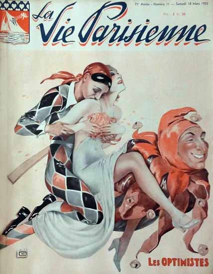 La Vie Parisienne 1933 Les Optimistes Sex Appeal | Sex Appeal Vintage Ads and Covers 1891-1970