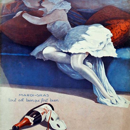 La Vie Parisienne 1933 Mardi-Gras Fabius Lorenzi crop | Best of 1930s Ad and Cover Art