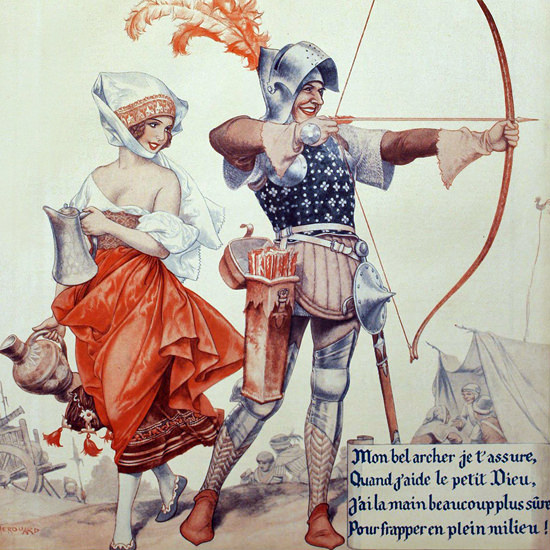 La Vie Parisienne 1933 Mon Bel Archer Cheri Herouard crop | Best of 1930s Ad and Cover Art