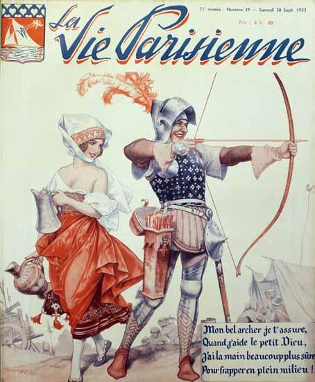 La Vie Parisienne 1933 Mon Bel Archer Sex Appeal | Sex Appeal Vintage Ads and Covers 1891-1970