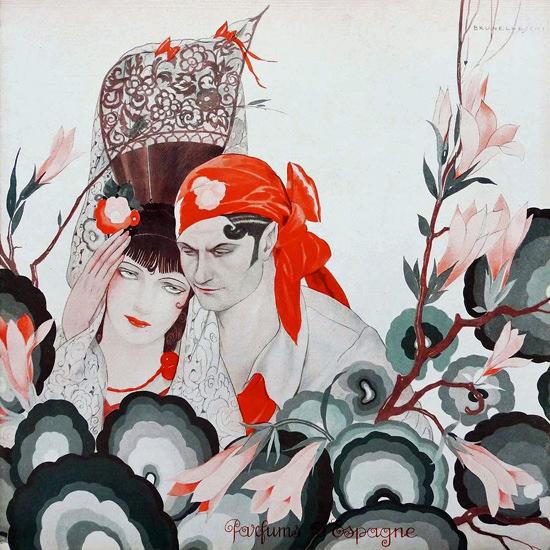La Vie Parisienne 1933 Parfums Espagne Umberto Brunelleschi crop | Best of Vintage Cover Art 1900-1970