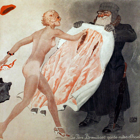 La Vie Parisienne 1933 Pere Brouillard Georges Leonnec crop | Best of 1930s Ad and Cover Art