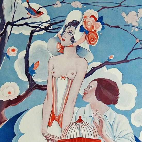La Vie Parisienne 1933 Primavera Umberto Brunelleschi crop B | Best of 1930s Ad and Cover Art
