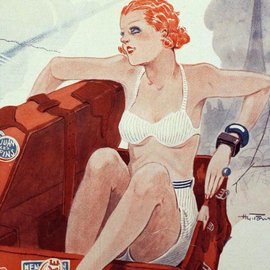 La Vie Parisienne 1933 Retour A L Envoyeur Henry Fournier crop B | Best of Vintage Cover Art 1900-1970
