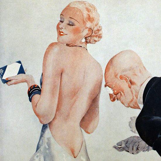 La Vie Parisienne 1933 Sa Vue Basse Georges Leonnec crop B | Best of Vintage Cover Art 1900-1970