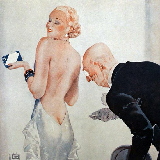 La Vie Parisienne 1933 Sa Vue Basse Georges Leonnec crop | Best of Vintage Cover Art 1900-1970