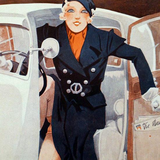 La Vie Parisienne 1933 Titine Et Sa Tinette Henry Fournier crop B | Best of Vintage Cover Art 1900-1970