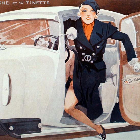 La Vie Parisienne 1933 Titine Et Sa Tinette Henry Fournier crop | Best of 1930s Ad and Cover Art