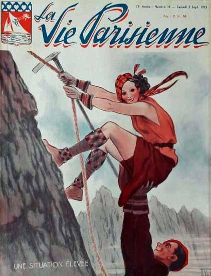 La Vie Parisienne 1933 Une Situation Elevee Armand Vallee | La Vie Parisienne Erotic Magazine Covers 1910-1939