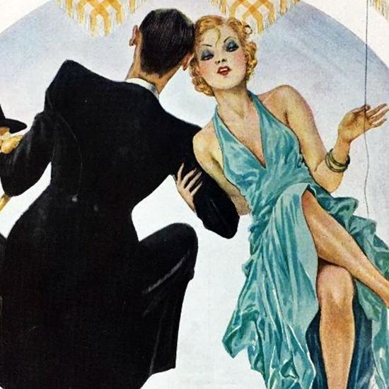 La Vie Parisienne 1934 Bar Man Georges Leonnec crop B | Best of Vintage Cover Art 1900-1970