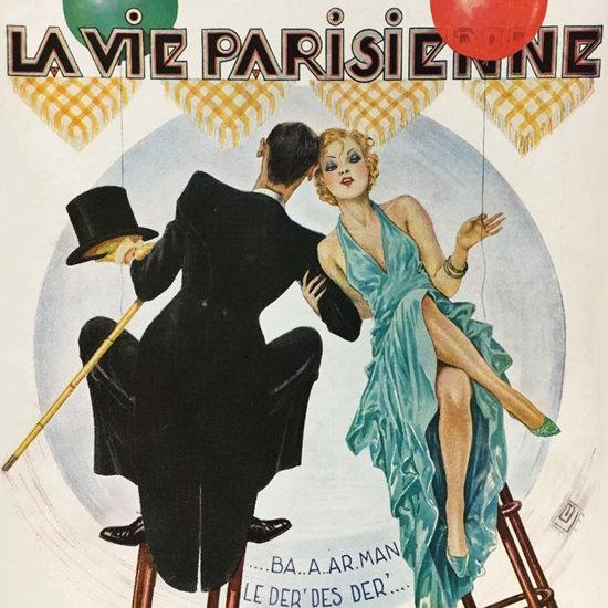 La Vie Parisienne 1934 Bar Man Georges Leonnec crop | Best of Vintage Cover Art 1900-1970