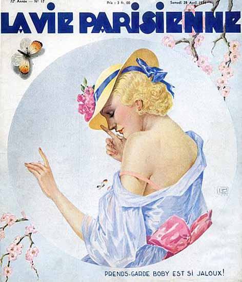 La Vie Parisienne 1934 Boby Est Jaloux Georges Leonnec Sex Appeal   Sex Appeal Vintage Ads and Covers 1891-1970