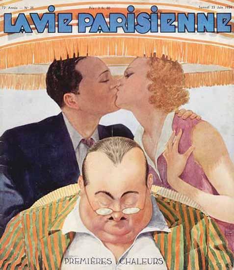 La Vie Parisienne 1934 Chaleurs Georges Leonnec Sex Appeal   Sex Appeal Vintage Ads and Covers 1891-1970