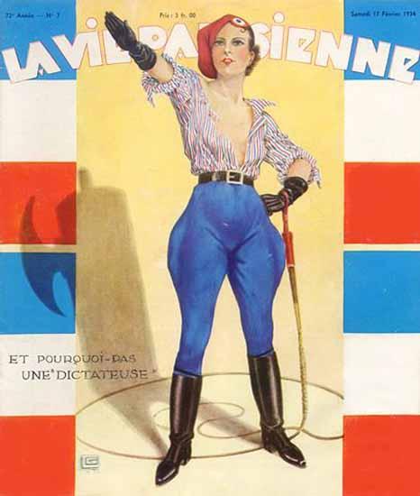 La Vie Parisienne 1934 Dictateuse Georges Leonnec Sex Appeal | Sex Appeal Vintage Ads and Covers 1891-1970