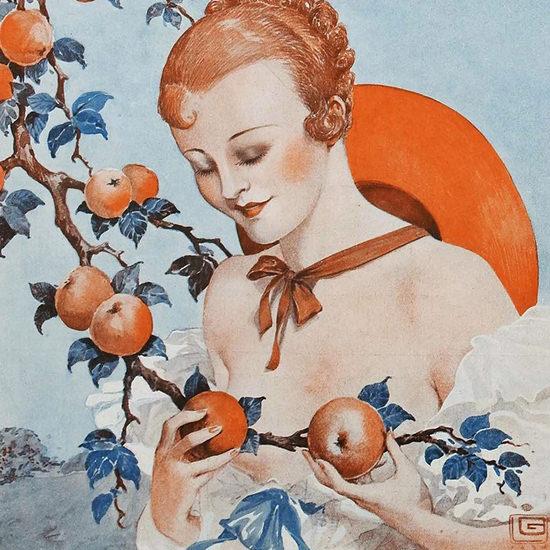 La Vie Parisienne 1934 Le Pommier Georges Leonnec crop | Best of 1930s Ad and Cover Art