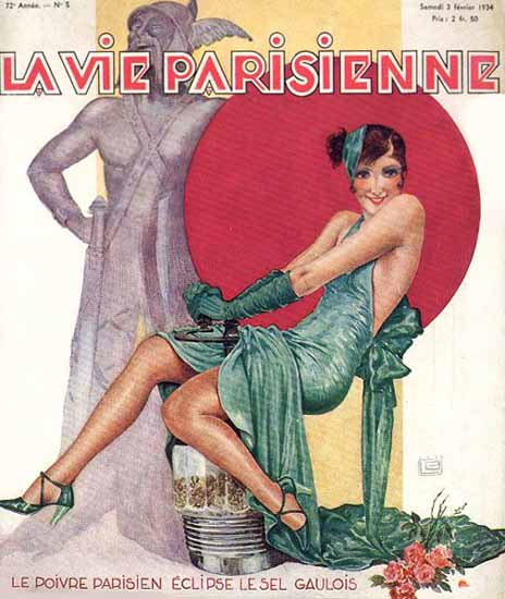 La Vie Parisienne 1934 Le Sel Gaulois Sex Appeal   Sex Appeal Vintage Ads and Covers 1891-1970